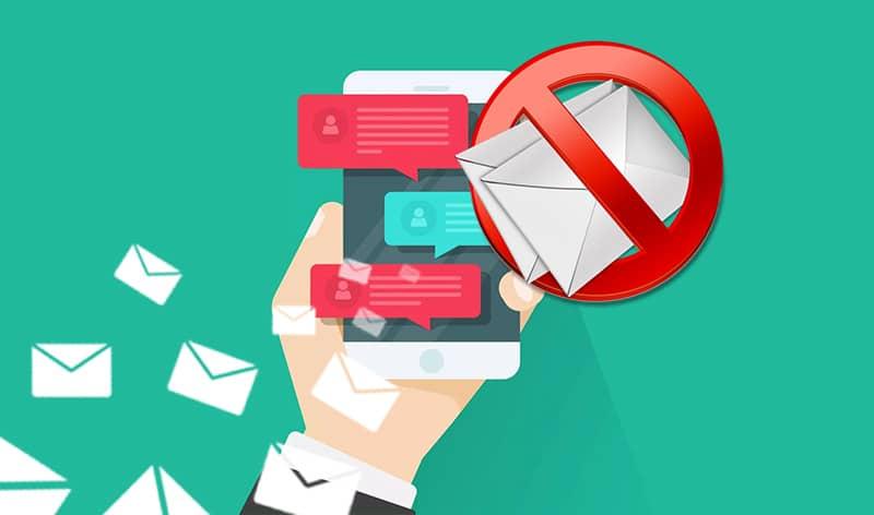 ارسال پیامک به بلک لیست
